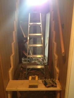 How to rebuild a staircase the right way.
