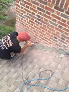 Leaky chimney fix