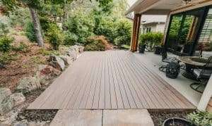 backyard deck project